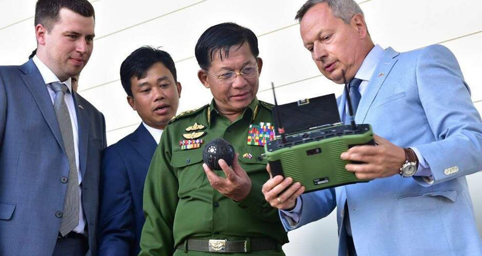 Commander in Chief of Myanmar Defence Forces, Senior General Min Aung Hlaing highly Appreciated the SCARAB and SPHERE Robots