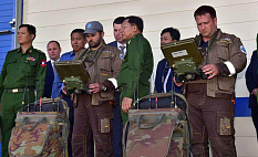 Commander in Chief of Myanmar Defence Forces, Senior General Min Aung Hlaing highly Appreciated the SCARAB and SPHERE Robots. (Фото 1)